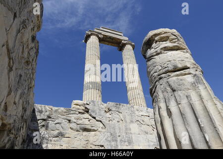 View of Temple of Apollo in antique city of View of Temple of Apollo in antique city of Didyma - Stock Photo