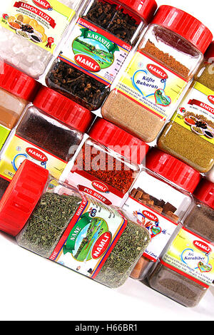 Herbs and Spices in Jar - Stock Photo