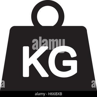 weight kilogram isolated icon - Stock Photo