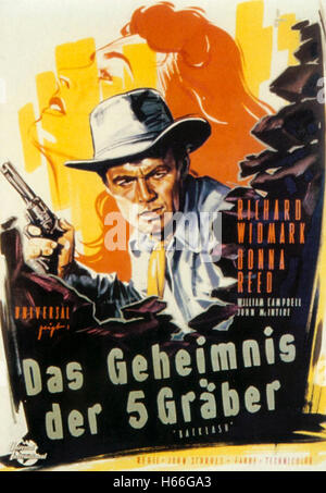 Backlash (1956) - German Movie Poster - - Stock Photo