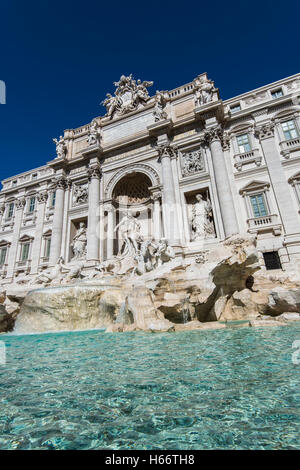 Trevi Fountain, Rome, Lazio, Italy - Stock Photo