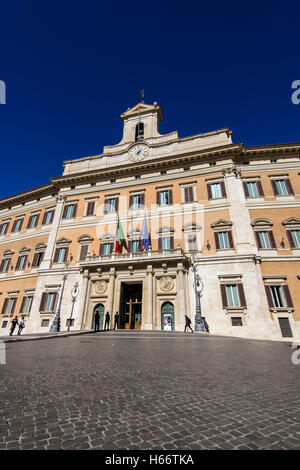 Palazzo Montecitorio, seat of the Italian Chamber of Deputies, Rome, Lazio, Italy - Stock Photo