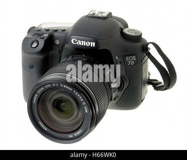 Canon Eos 7d digital SLR camera - Stock Photo