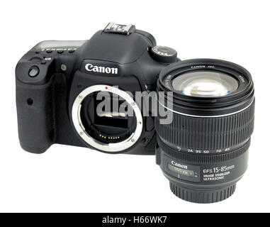 Canon Eos 7d digital SLR camera - Stock Photo
