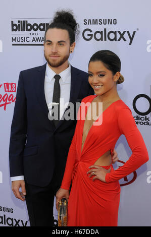 Us the Duo arrives at the 2015 Billboard Music Awards at the MGM Grand Garden Arena on May 17, 2015 in Las Vegas, - Stock Photo