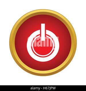 Power button icon in simple style - Stock Photo