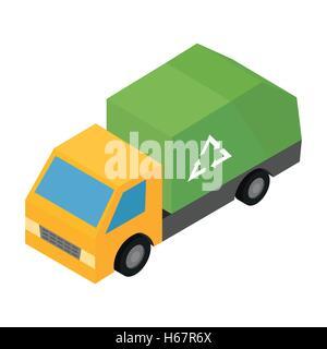 Garbage truck isometric 3d icon - Stock Photo
