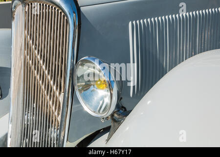 Saint Reverend, France - July 24, 2016 : old Citroen bus for vintage car show during the city's party - Stock Photo