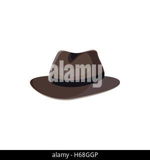 Black hat icon in cartoon style - Stock Photo