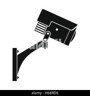Surveillance camera black icon - Stock Photo