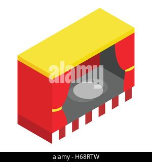 Red stage isometric 3d icon - Stock Photo