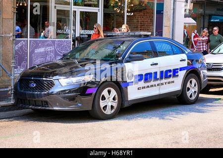 A Charleston South Carolina Police Car Parked On The Street