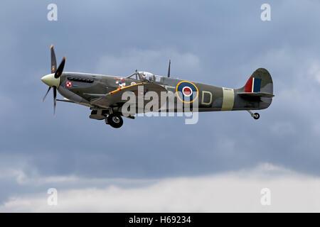 Supermarine Spitfire Mk Vb AB910 Royal Air Force Battle of Britain Memorial Flight (RAF BBMF). - Stock Photo
