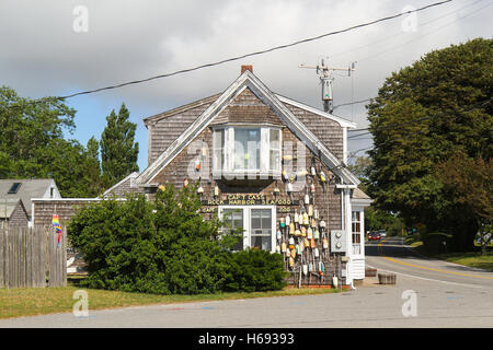 Cap't Cass Rock Harbor Seafood, Orleans, Cape Cod, Massachusetts, United States, North America - Stock Photo