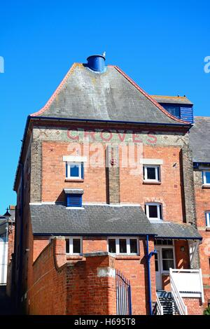 Groves Malthouse building in the harbour area, Weymouth, Dorset, England, UK, Western Europe. - Stock Photo