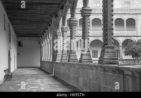 AVILA, SPAIN, APRIL - 18, 2016: The atrium of Real monasterio de Santo Tomas. - Stock Photo