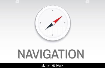 Navigation Destination Location GPS Map Concept - Stock Photo