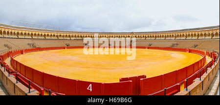Plaza de toros de la Real Maestranza de Caballeria - Stock Photo