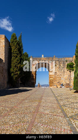 The Arch of the Giants in  Alcazaba Castle, Antequera, Malaga Province, Andalucia, Spain - Stock Photo