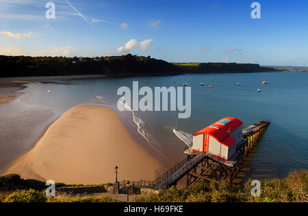 The old Lifeboat Station in Tenby, Pembrokeshire, Wales, Featured in UK Channel 4 program,  'Grand Designs', now - Stock Photo
