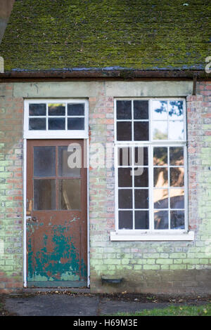 Old disused Army Barracks Hut - Stock Photo