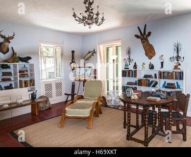 Ernest Hemingway's studio, preserved as part of the Hemingway Home Museum in Key West, Florida. - Stock Photo