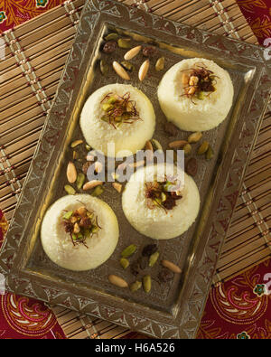 Bhapa doi. Bengali steamed yogurt dessert. - Stock Photo