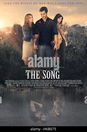 ALI FAULKNER ALAN POWELL & CAITLIN NICOL-THOMAS POSTER THE SONG (2014) - Stock Photo