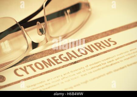 Cytomegalovirus. Medicine. 3D Illustration. - Stock Photo