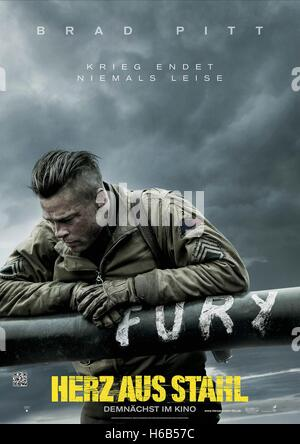 brad pitt poster fury 2014 stock photo royalty free