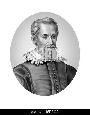 Johannes Kepler, 1571-1630, Mathematician, Astronomer - Stock Photo