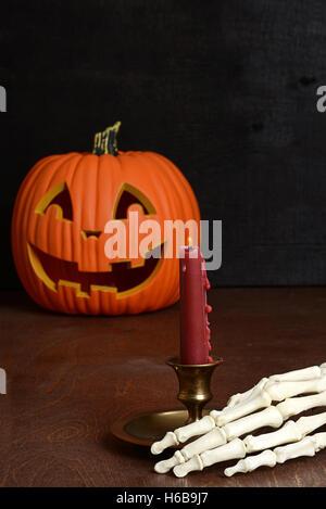 Hand With Jack O Lantern Halloween Holiday Symbol