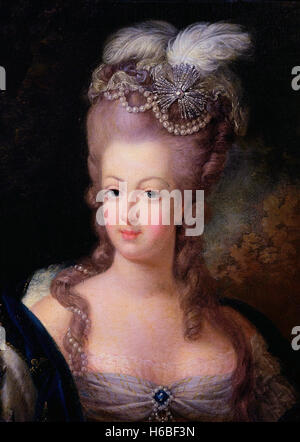 Marie Antoinette (1755-1793), Queen of France and wife of King Louis XVI. Portrait by anonymous artist, c.1775 - Stock Photo