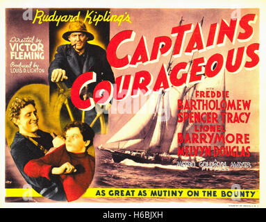 Captains Courageous  - Movie Poster - - Stock Photo