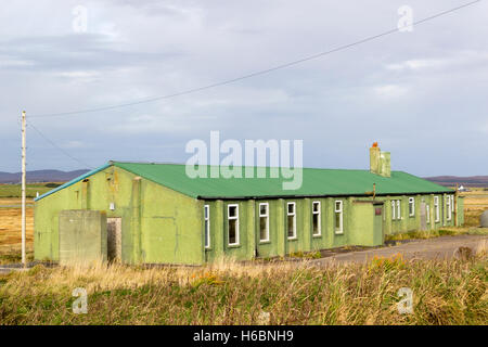 Nissan Huts at Stornoway Airport Isle of Lewis Western Isles Outer Hebrides Scotland United Kingdom - Stock Photo