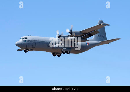 Dutch Air Force Lockheed C-130H-30 Hercules (L-382) [G-273] on finals for runway 32. - Stock Photo