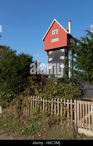 The House in the Clouds, a converted water tower, Thorpeness village, Suffolk England UK - Stock Photo