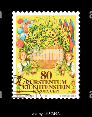 Liechtenstein stamp 1981 - Stock Photo