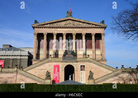 The Alte Nationalgalerie (Old National Gallery) on Mueum Island, in Berlin, Germany - Stock Photo
