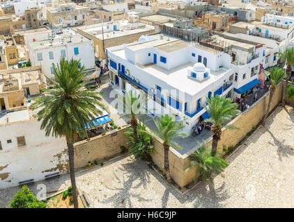 The Medina of Sousse is full of traditional stores and stalls, Built in arabic style - Stock Photo