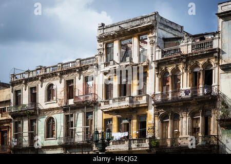 a beautiful old building with balconies - Stock Photo