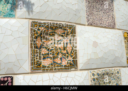 Exterior view of  Parc Guell  in Barcelona - Stock Photo