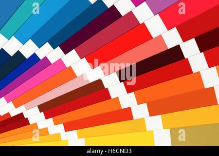 Color Palette Guide Close Up. Colorful Catalog. - Stock Photo