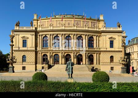 Rudolfinum Concert Hall, Prague, Czech Republic - Stock Photo