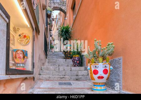 Taormina, Messina, Sicily, Italy - Stock Photo