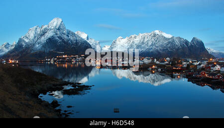 Norway, Reine in Lofoten Islands - Stock Photo