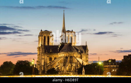 The Notre Dame cathedral is a historical monument , one of the most visited in Paris, considered as one of the finest - Stock Photo