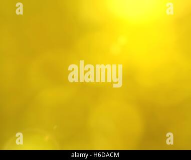 Yellow bokeh background with lens flare effect - Stock Photo