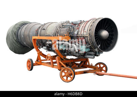 Transportation of the engine of the jet plane - Stock Photo