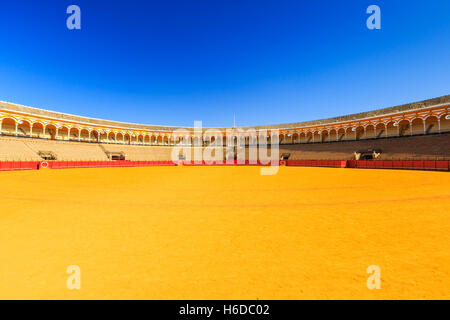 Seville, Spain. Plaza de Toros (Bullring). - Stock Photo